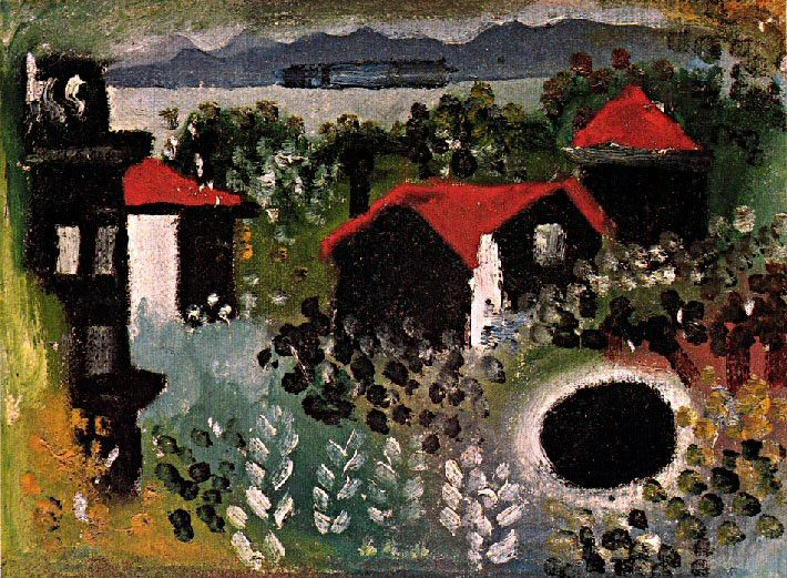1922 Paysage Е Juan-les-Pins] Paysage Е Dinard. Pablo Picasso (1881-1973) Period of creation: 1919-1930