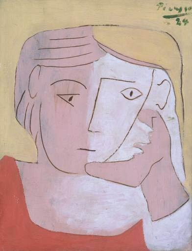 1924 TИte de femme. Pablo Picasso (1881-1973) Period of creation: 1919-1930