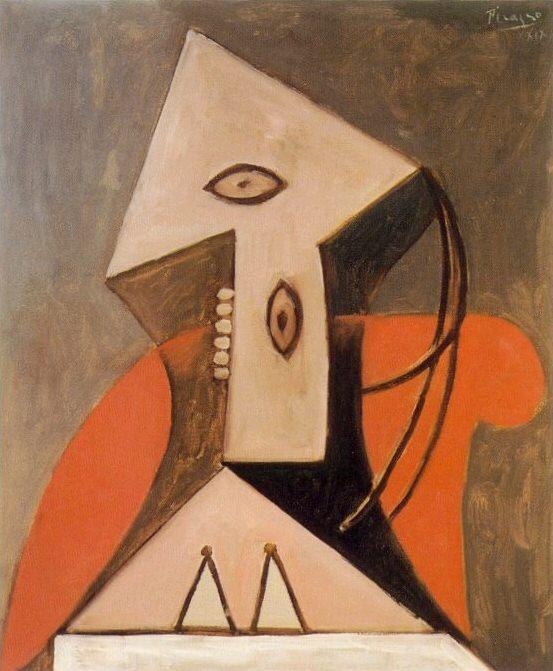 1929 Femme dans un fauteuil rouge. Пабло Пикассо (1881-1973) Период: 1919-1930