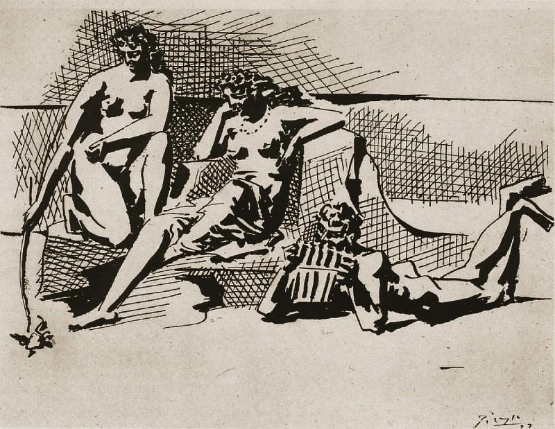 1923 Deux baigneuses et joueur de flЦte de Pan. Pablo Picasso (1881-1973) Period of creation: 1919-1930
