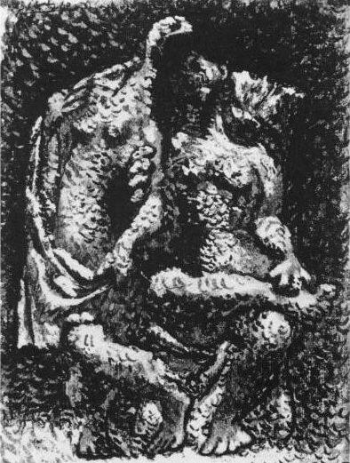 1920 Deux nus fВminins. Pablo Picasso (1881-1973) Period of creation: 1919-1930