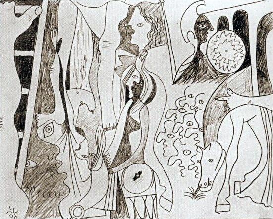 1929 La crucifixion. Pablo Picasso (1881-1973) Period of creation: 1919-1930 (Рtude)