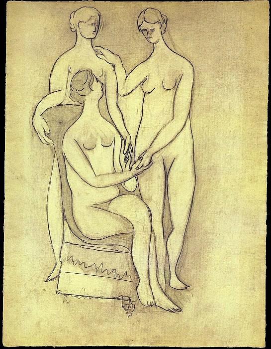 1920 Trois femmes. Pablo Picasso (1881-1973) Period of creation: 1919-1930