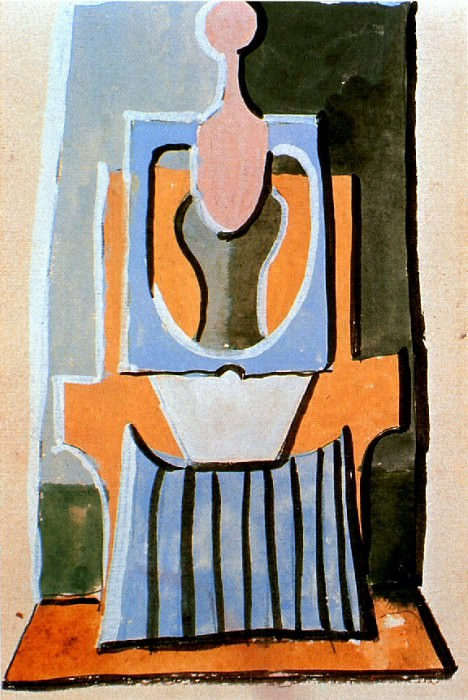 1919 Femme assise dans un fauteuil. Pablo Picasso (1881-1973) Period of creation: 1919-1930