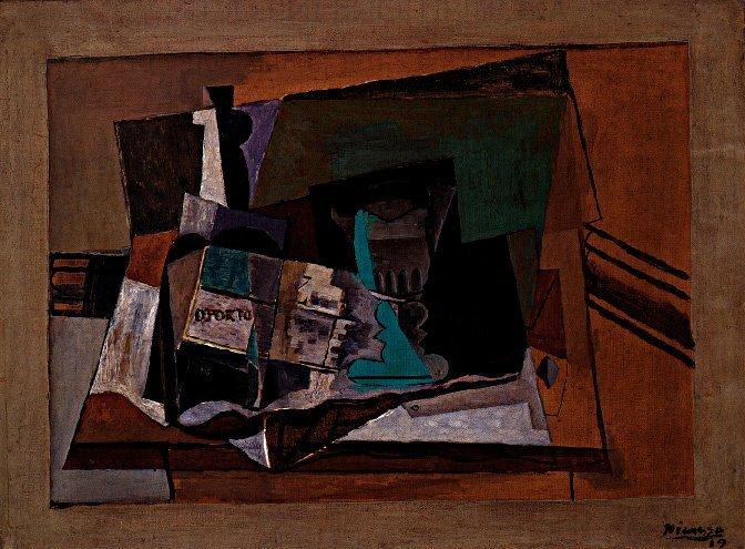 1919 Bouteille de porto et verre. Pablo Picasso (1881-1973) Period of creation: 1919-1930