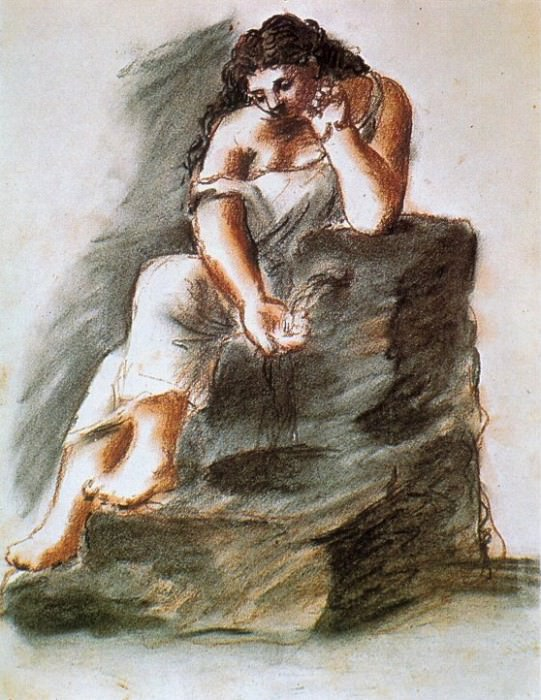 1921 Femme Е la fontaine. Pablo Picasso (1881-1973) Period of creation: 1919-1930