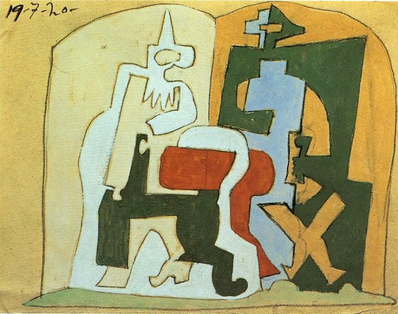 1920 Arlequin et Pulcinella III. Pablo Picasso (1881-1973) Period of creation: 1919-1930 (Pierrot et Arlequin)