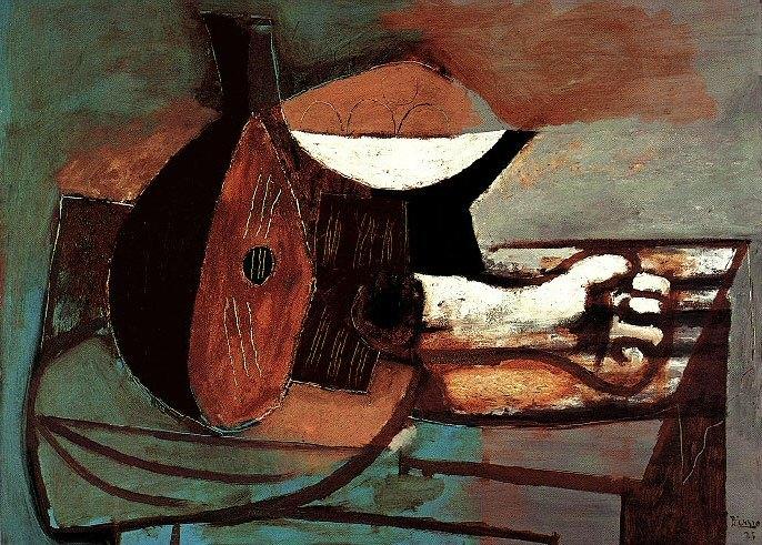 1925 Mandoline, compotier, bras en marbre. Pablo Picasso (1881-1973) Period of creation: 1919-1930