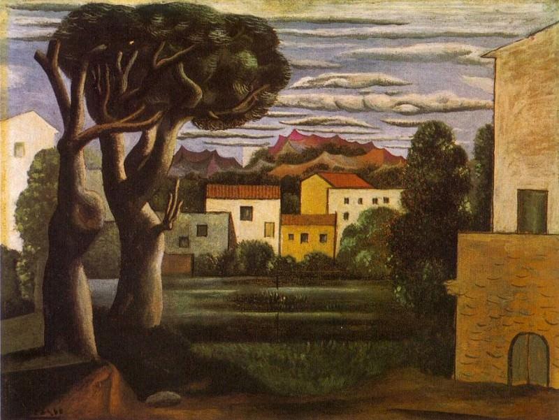 1919 Paysage Е larbre mort et vif. Pablo Picasso (1881-1973) Period of creation: 1919-1930