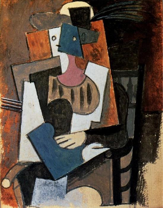 1919 Femme au chapeau Е plume assise dans un fauteuil. Pablo Picasso (1881-1973) Period of creation: 1919-1930