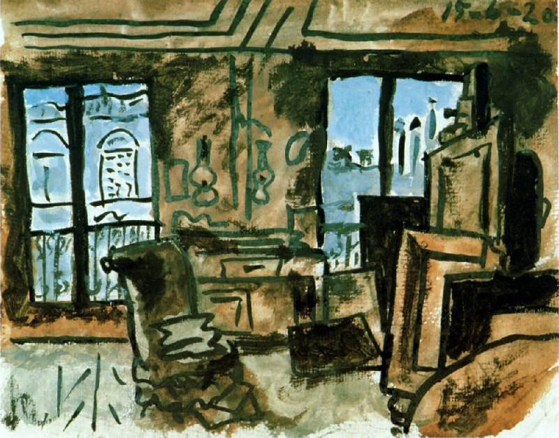 1920 Latelier. Пабло Пикассо (1881-1973) Период: 1919-1930