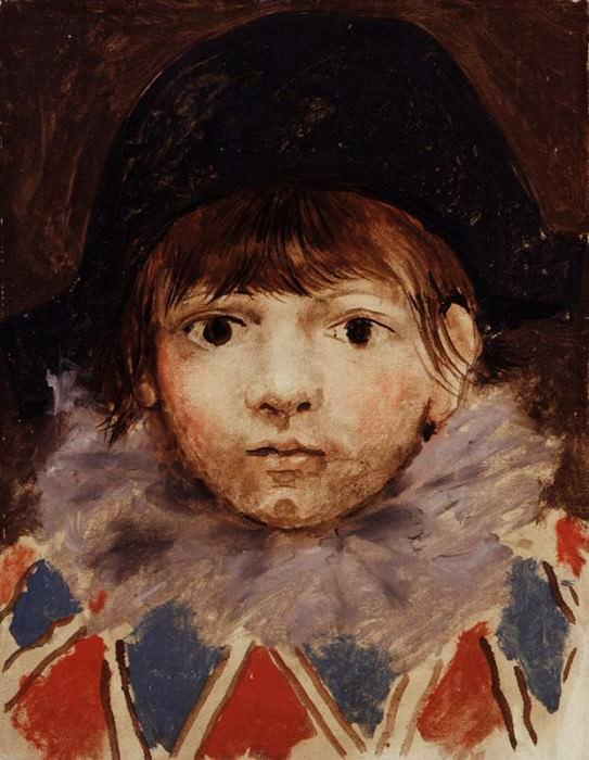 1924 Le fils de lartiste en arlequin (Portrait de Paul). Pablo Picasso (1881-1973) Period of creation: 1919-1930