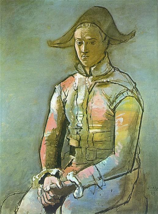 1923 Arlequin assis (Jacinto Salvado). Pablo Picasso (1881-1973) Period of creation: 1919-1930