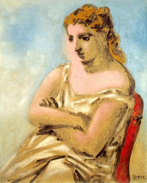 1923 Femme assise en bleu et rose (Sarah Murphy). Pablo Picasso (1881-1973) Period of creation: 1919-1930