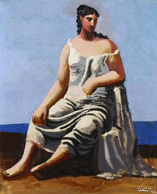 1922 Femme assise au bord de la mer. Pablo Picasso (1881-1973) Period of creation: 1919-1930