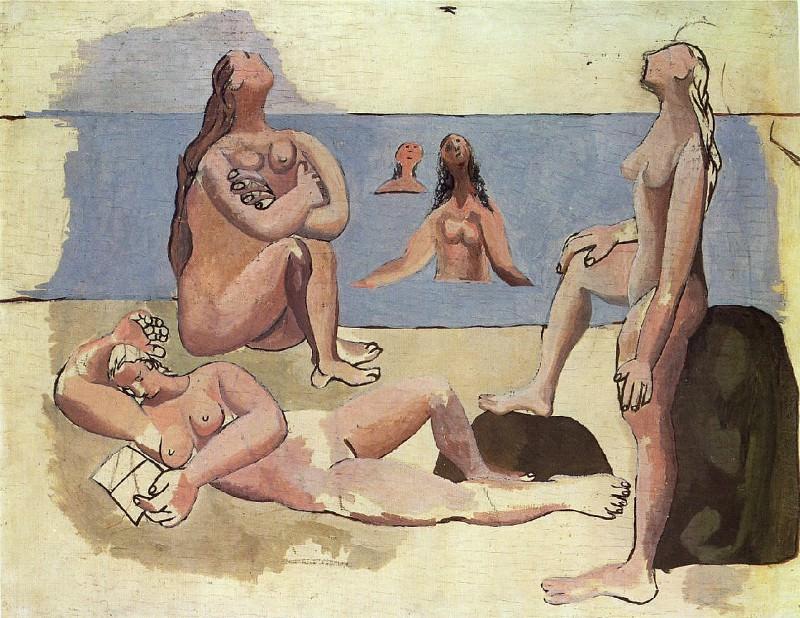 1920 Baigneuses regardant un avion. Pablo Picasso (1881-1973) Period of creation: 1919-1930 (Cinq baigneuses)