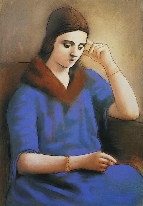 1923 Olga pensive. Пабло Пикассо (1881-1973) Период: 1919-1930