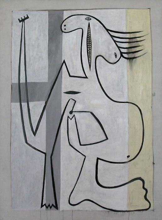 1927 Nu sur fond blanc. Пабло Пикассо (1881-1973) Период: 1919-1930