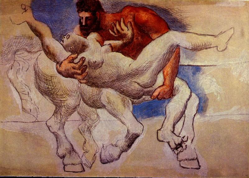 1920 Le rapt (Nessus & DВjanire). Pablo Picasso (1881-1973) Period of creation: 1919-1930