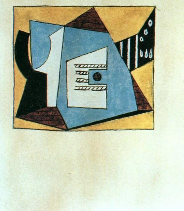 1920 Guitare et compotier sur une table1. Пабло Пикассо (1881-1973) Период: 1919-1930