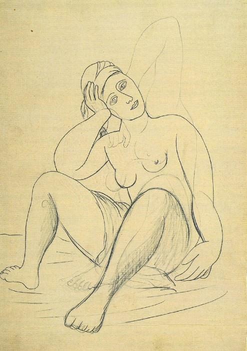 1920 Femme nue au turban. Pablo Picasso (1881-1973) Period of creation: 1919-1930