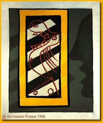 1927 Personnage et profil. Пабло Пикассо (1881-1973) Период: 1919-1930