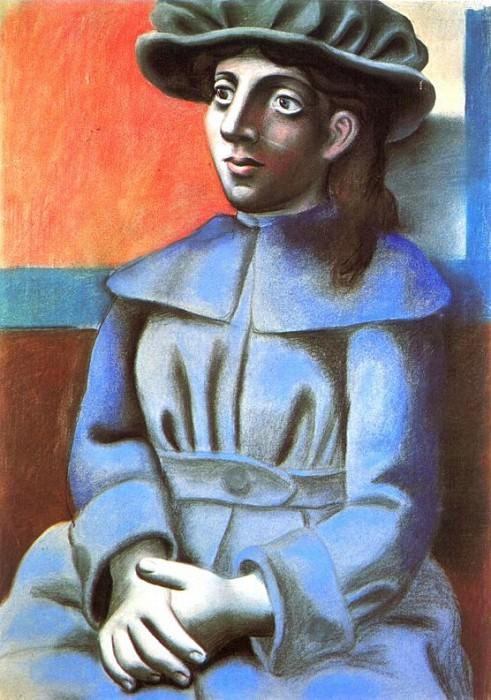 1920 Jeune fille au chapeau les mains croisВes. Пабло Пикассо (1881-1973) Период: 1919-1930