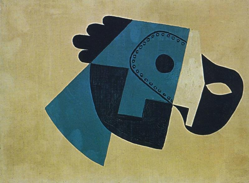 1923 Masque et gant1. Pablo Picasso (1881-1973) Period of creation: 1919-1930