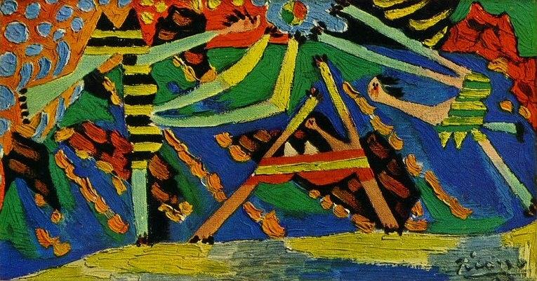 1928 Baigneuses au ballon4. Pablo Picasso (1881-1973) Period of creation: 1919-1930