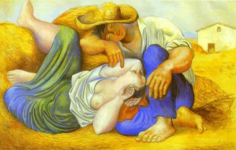 1919 Paysans endormis. JPG. Pablo Picasso (1881-1973) Period of creation: 1919-1930