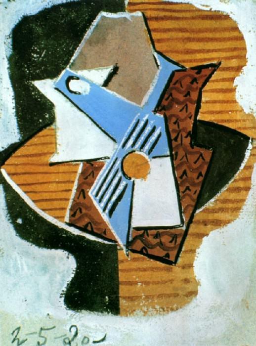 1920 Guitare sur une table. Pablo Picasso (1881-1973) Period of creation: 1919-1930