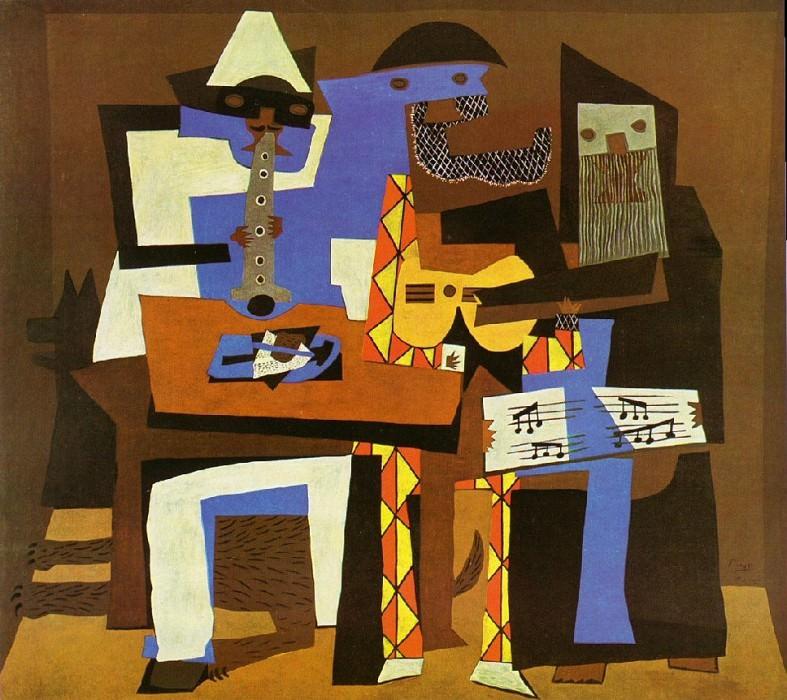 1921 Musiciens aux masques. Пабло Пикассо (1881-1973) Период: 1919-1930
