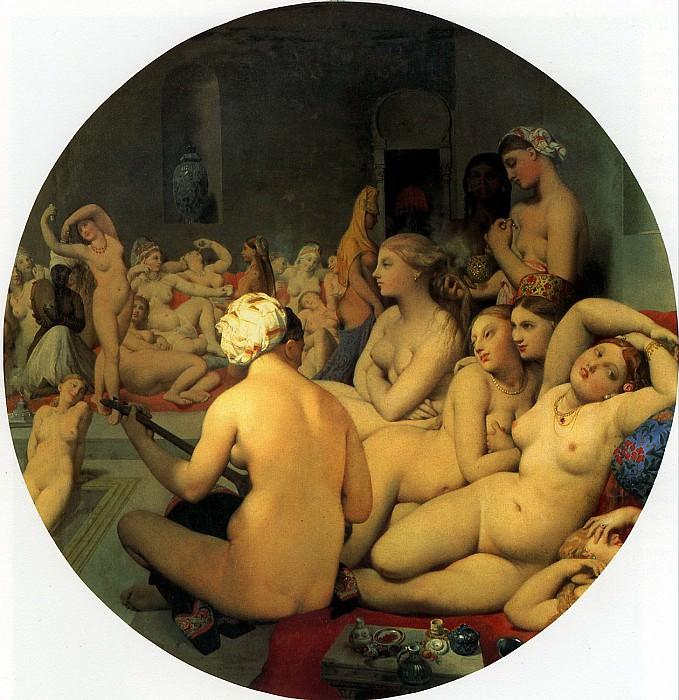 ЭНГР ЖАН ОГЮСТ ДОМИНИК - Турецкая баня, 1862.. Louvre (Paris)