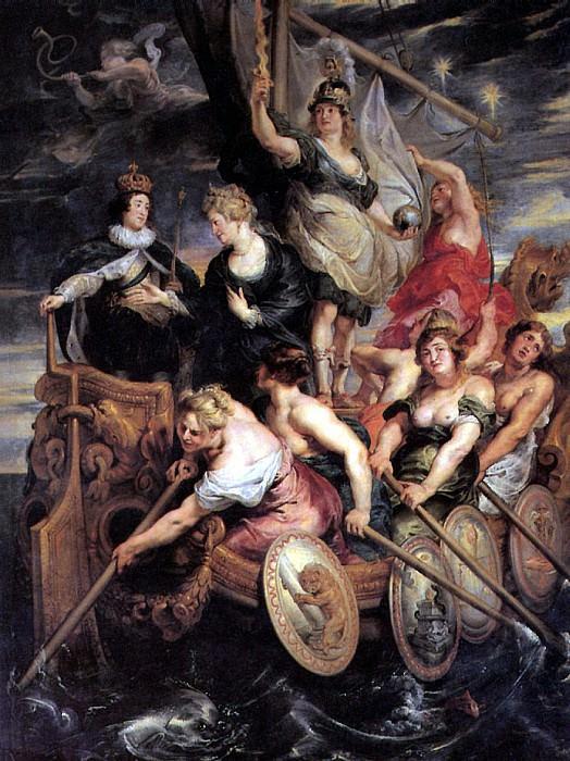 РУБЕНС ПИТЕР ПАУЭЛ - Возмужание Людовика XIII.. Louvre (Paris)