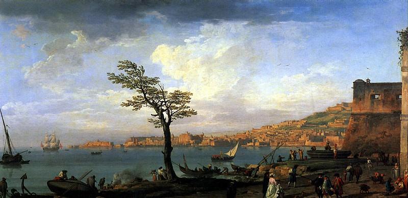 ВЕРНЕ КЛОД ЖОЗЕФ - Вид Неаполитанского залива, 1748.. Louvre (Paris)