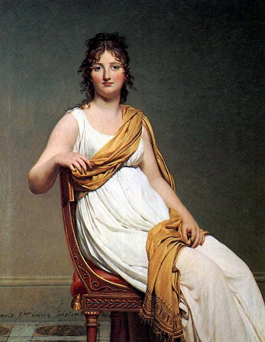 ДАВИД ЖАК ЛУИ - Мадам де Вернинак, урожденная Генриетт Делакруа, сестра художника Эжена Делакруа, 1799.. Louvre (Paris)
