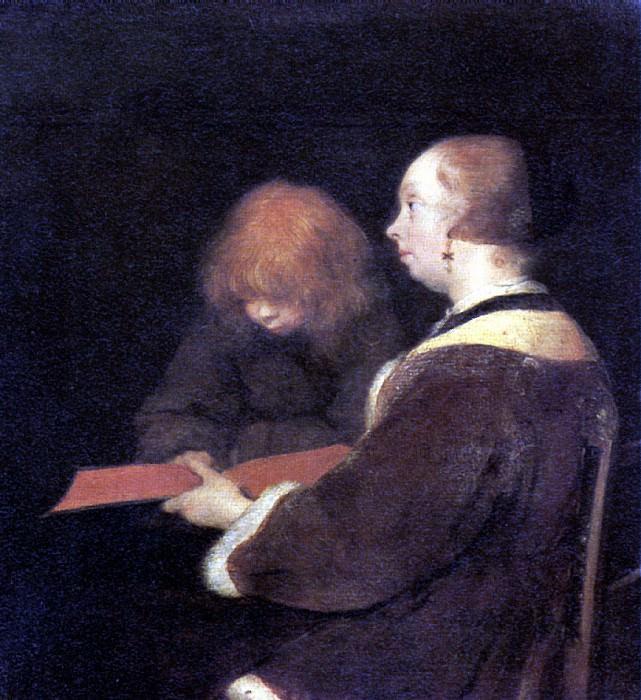ТЕРБОРХ ГЕРАРД - Урок чтения.. Louvre (Paris)