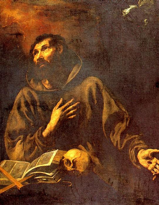 ТРИСТАН ЛУИС - Видение св. Франциска Ассизского.. Louvre (Paris)