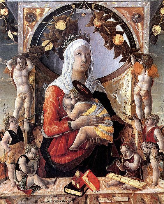 ДЗОППО МАРКО - Мадонна с младенцем в окружении восьми ангелов.. Louvre (Paris)