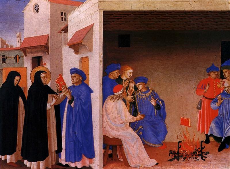ФРА АНЖЕЛИКО - Проповедь св. Доминика и Чудо с книгой.. Louvre (Paris)