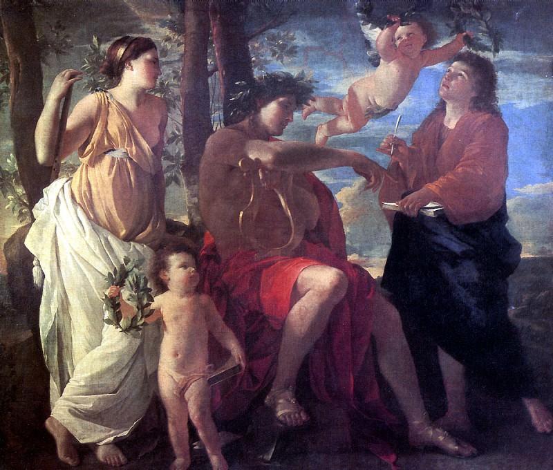 ПУССЕН НИКОЛА - Вдохновение эпического поэта.. Louvre (Paris)