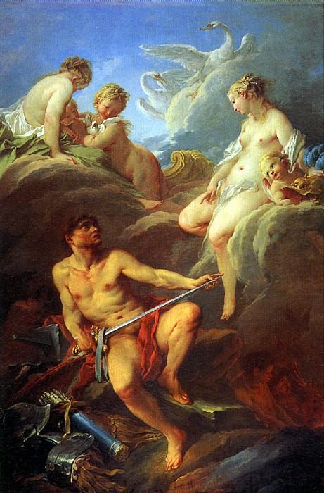 БУШЕ - Венера, просящая у Вулкана оружие для Энея, 1732.. Louvre (Paris)