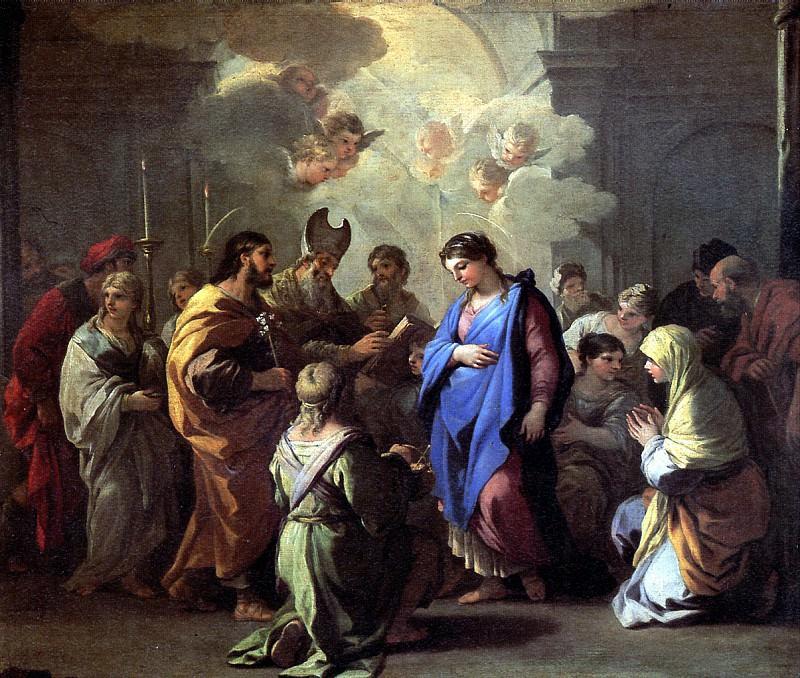 ДЖОРДАНО ЛУКА - Обручение Марии с Иосифом.. Лувр (Париж)