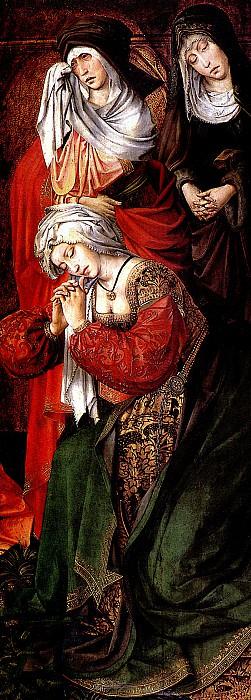 """ДЕ КОТЕР КОЛИН - Три Марии из Оплакивания. Правая створка алтаря """"Трон благодати.. Louvre (Paris)"""
