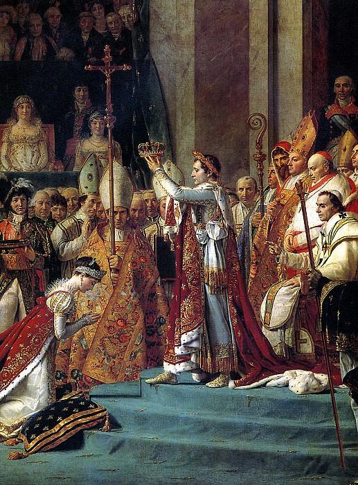 ДАВИД ЖАК ЛУИ - Посвящение Наполеона I в императоры и коронация императрицы Жозефины в соборе Нотр-Дам в Париже 2 декабря 1804 г. (фрагмент), 1806 и 1807.. Лувр (Париж)