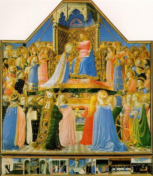 ФРА АНЖЕЛИКО - Коронование Девы Марии.. Louvre (Paris)