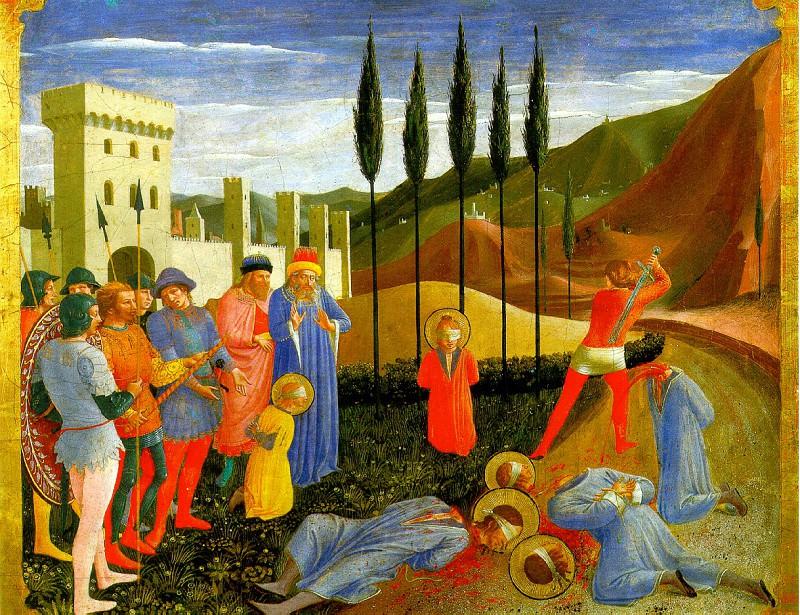 ФРА АНЖЕЛИКО - Мученичество святых Косьмы и Дамиана.. Louvre (Paris)