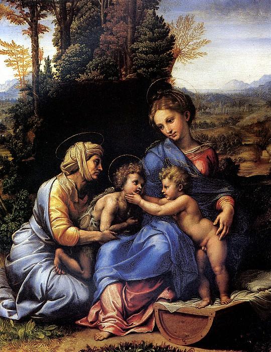 РАФАЭЛЬ И ЕГО МАСТЕРСКАЯ - Святое семейство.. Лувр (Париж)
