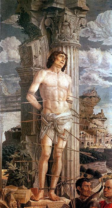 МАНТЕНЬЯ АНДРЕА - Св. Себастьян, ок. 1480.. Лувр (Париж)