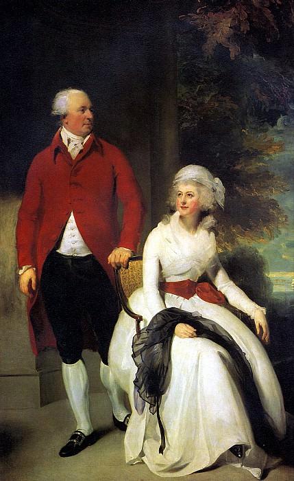 ЛОРЕНС ТОМАС - Миссис и мистер Джон Джулиус Энджерстайн, 1792.. Louvre (Paris)